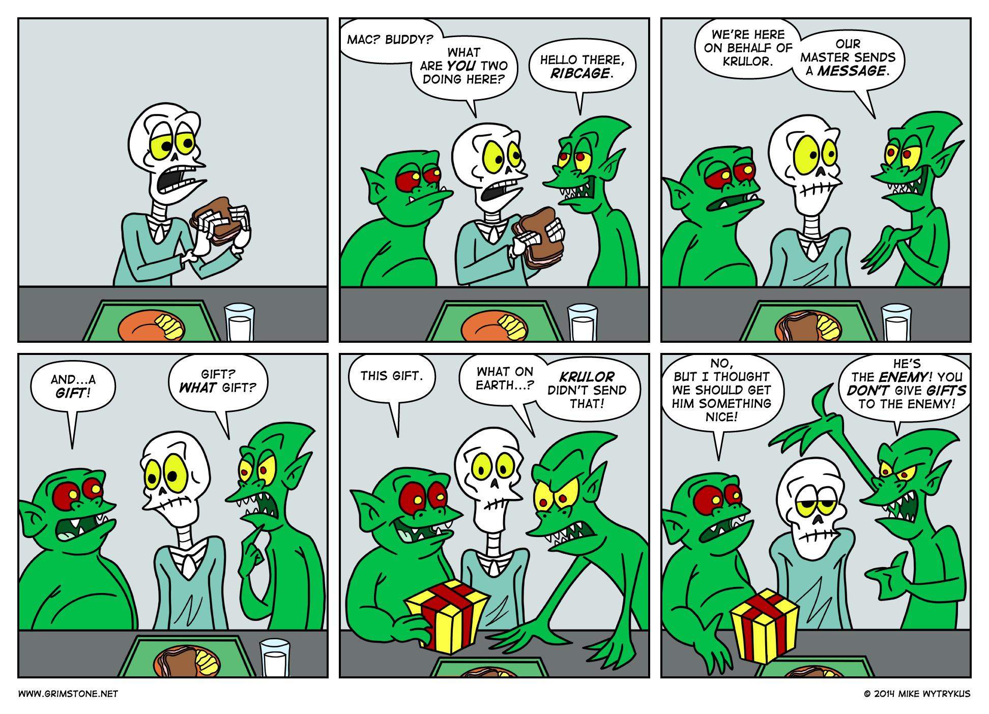 Beware of Ghouls Bearing Gifts