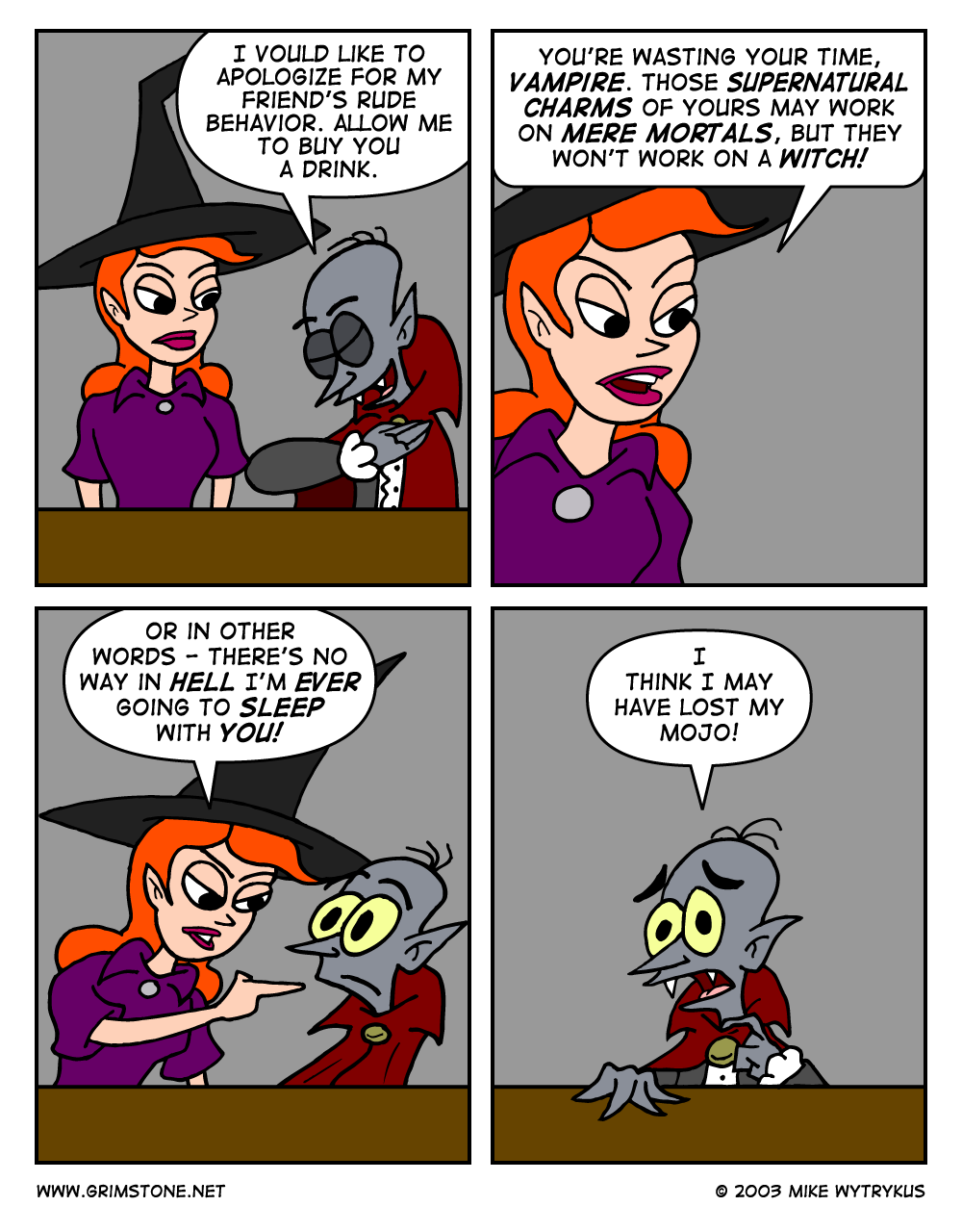 How Not to Pick-up a Witch